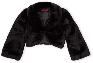 Princess Faith (Girls 4-6x) Faux Fur Shrug