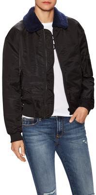 Transe Faux Fur collar Jacket $275 thestylecure.com