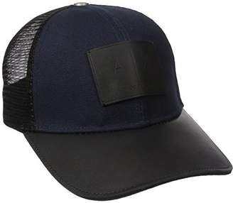 Armani Exchange Men's Logo Patch Mesh Trucker Hat