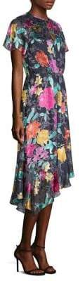 Etro Floral-Print Cap-Sleeve Midi Dress