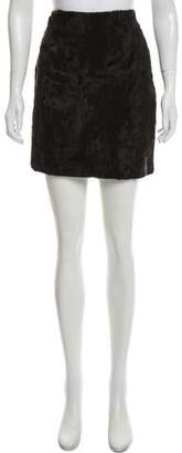 Henri Bendel Textured Mini Skirt
