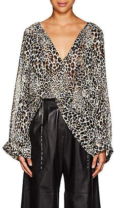 Nili Lotan Women's Acadia Leopard-Print Silk Blouse - Leopard