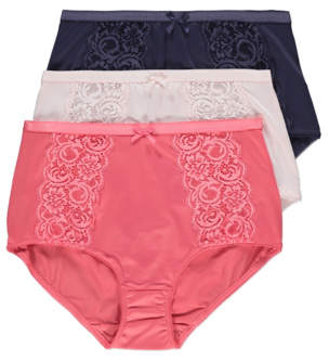 cefc829ced George Assorted Lace Full Briefs 3 Pack