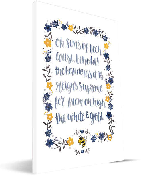 Georgia Tech Yellow Jackets Hand-Painted Song Wrapped Canvas