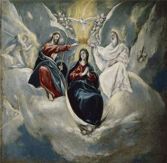 3.1 Phillip Lim Oil Paintings Canvas Prints 'El Greco The Coronation of the Virgin 1592 ' oil painting, 30 x inch / 76 x 78 cm ,printed on Perfect effect canvas ,this Beautiful Art Decorative Prints on Canvas is perfectly suitalbe for Nursery decoration and Home gallery art and Gifts