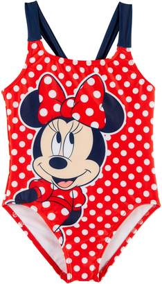 Disney Minnie Mouse Little Girls Dots Swimsuit 5-6