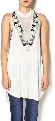 Free People White Tribal Tunic