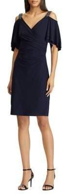 Lauren Ralph Lauren Beaded Strap Cocktail Dress
