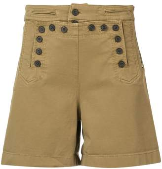 A.L.C. high waisted button shorts
