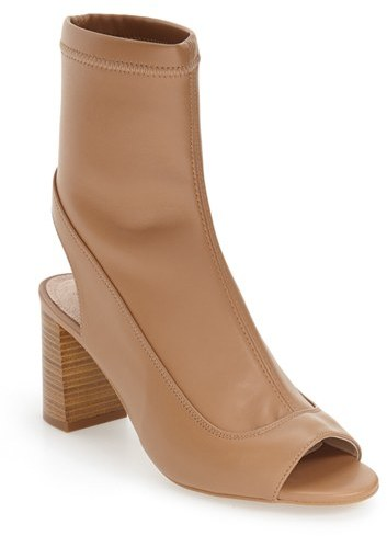 Topshop Women's Topshop 'Melon' Cutout Stretch Bootie