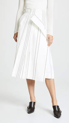Cédric Charlier Pleated Midi Skirt