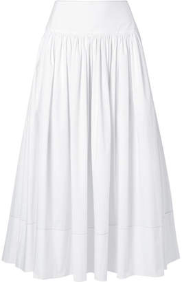 Elizabeth and James Shirley Cotton-blend Poplin Maxi Skirt - White