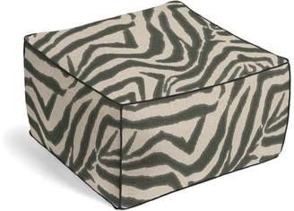 Loom Decor Square Pouf Zebra Ikat - Steel