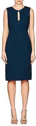 Narciso Rodriguez WOMEN'S SILK CADY SHEATH DRESS - TURQUOISE SIZE 40 IT