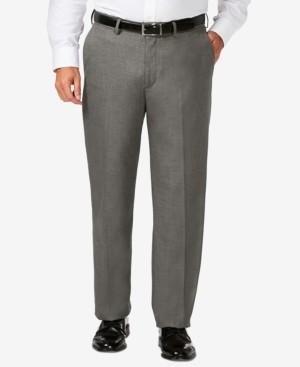 Haggar J.m. Big & Tall Classic Fit Stretch Sharkskin Flat Front Dress Pants