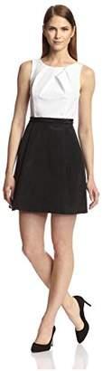 Society New York Women's Sleeveless Pleated Bodice Dress