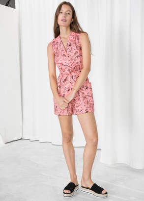 And other stories Tropical Map Print Romper