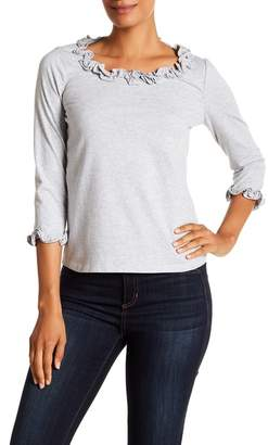 Rebecca Taylor Ruffled Clean Jersey Top