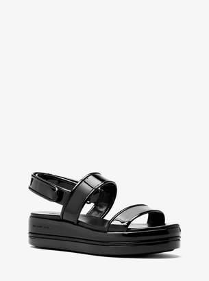 MICHAEL Michael Kors Peggy Patent Leather Platform Sandal