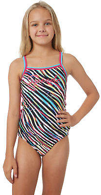 Speedo Girls Girls Zebra Streak Sierra One Piece Lace Fitted