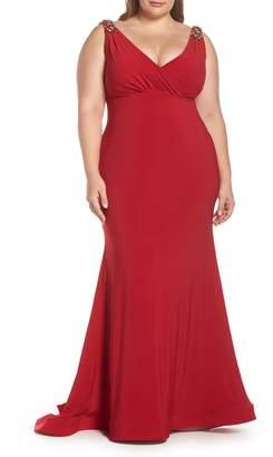 Mac Duggal Embellished Trumpet Evening Dress