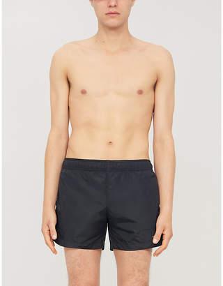 Off-White Regular-fit logo-print swim shorts