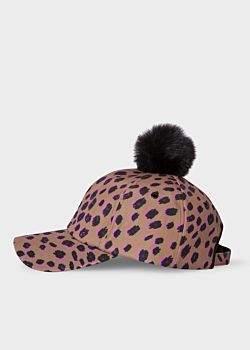 c106f5a3 Paul Smith Women's Tan 'Cheetah' Print Baseball Cap ...