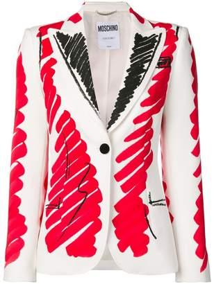 Moschino brushstroke blazer