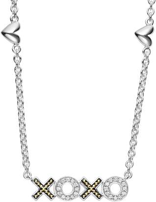 Lagos Beloved Diamond XOXO Chain Necklace
