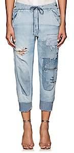 Greg Lauren Women's Patchwork Denim Lounge Pants - Denim Blue