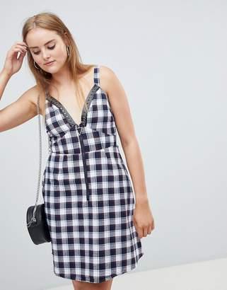 boohoo Check Mini Dress