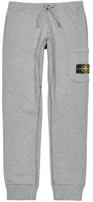 Stone Island Grey Melange Cotton Sweatpants