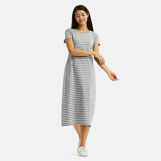 Uniqlo Women's Striped Short-sleeve Long Bra Dress