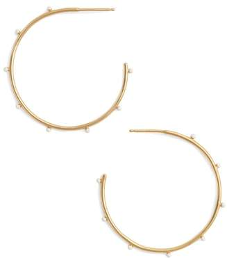 Argentovivo Enamel Hoop Earrings
