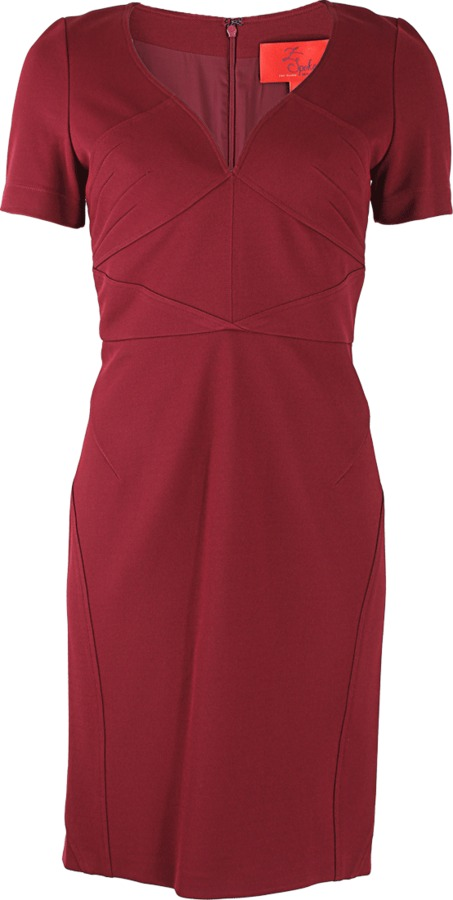 Z SPOKE Short Sleeve V-Neck Bondage Dress