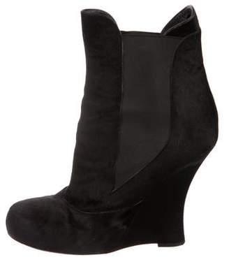 Tabitha Simmons Ponyhair Wedge Boots
