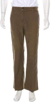 John Varvatos Flat Front Boot-Cut Pants