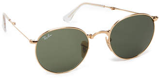 Ray-Ban Icons Round Sunglasses $200 thestylecure.com