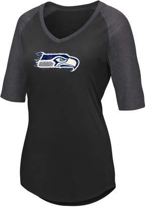 Majestic Plus Size Seattle Seahawks Logo Tee