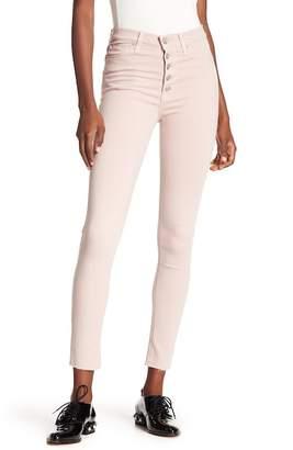 Hudson Barbara Raw Hem Super Skinny Jeans