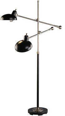 Robert Abbey Lighting, Bruno Double Arm Pharmacy Floor Lamp