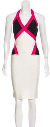 Herve Leger Andie Colorblock Dress