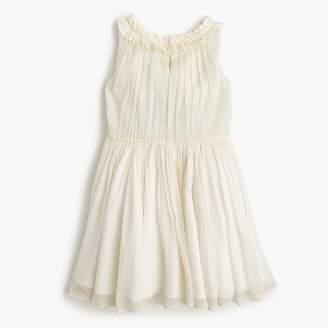 J.Crew Girls' pleated ruffle dress in crinkle chiffon