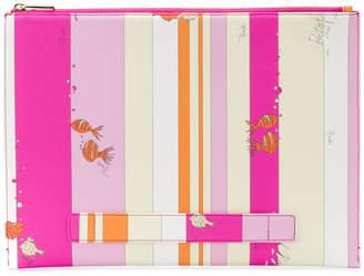 Emilio Pucci fish print zip purse