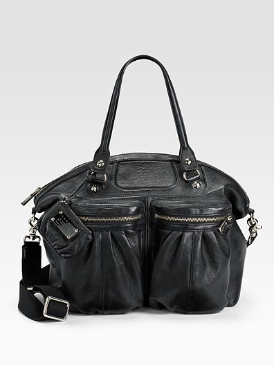 L.A.M.B. Celendine Leather Zip Tote