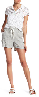 SUSINA Linen-Blend Striped Utility Short $19.97 thestylecure.com