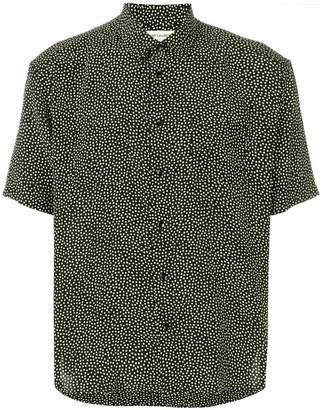 Saint Laurent Yves collar printed shirt