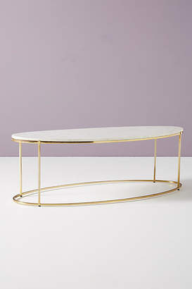 Anthropologie Leavenworth Oval Marble Coffee Table