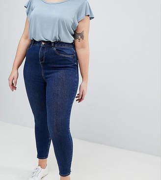2a91ffae3bdcd New Look Plus Curve mid blue wash skinny jean in blue