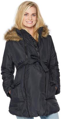 Modern Eternity Hooded Belted Puffer Coat